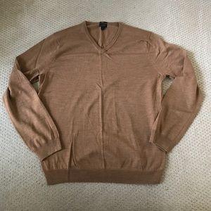 Mens J Crew Merino Wool V-Neck Sweater Sz XL